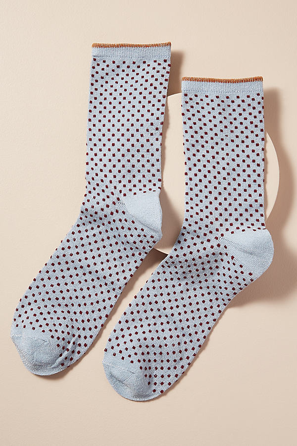 Dot Lurex Ankle Socks - Assorted, Size M/l