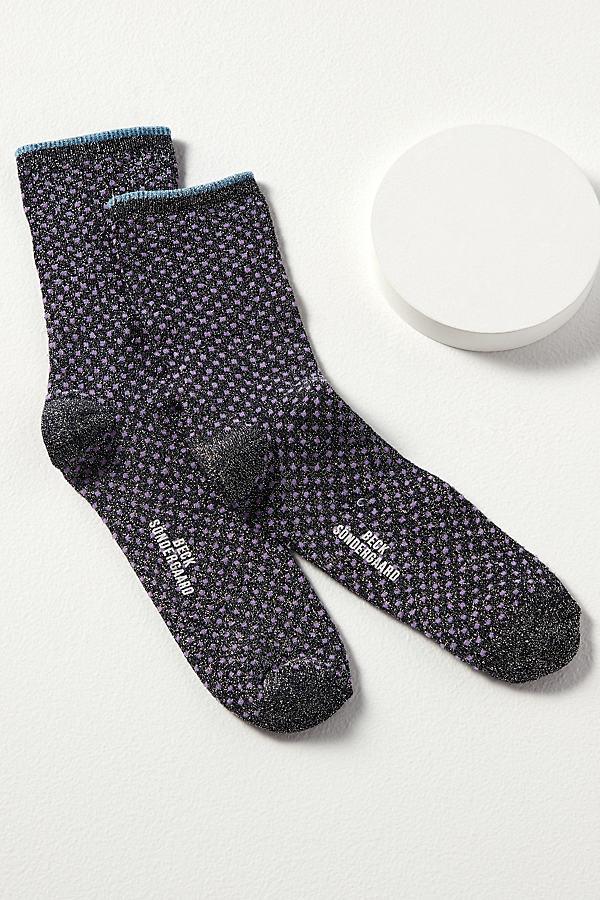 Dot Lurex Ankle Socks
