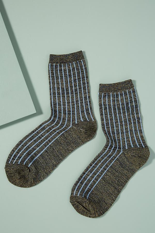 Dean Striped Socks - Blue, Size S/m
