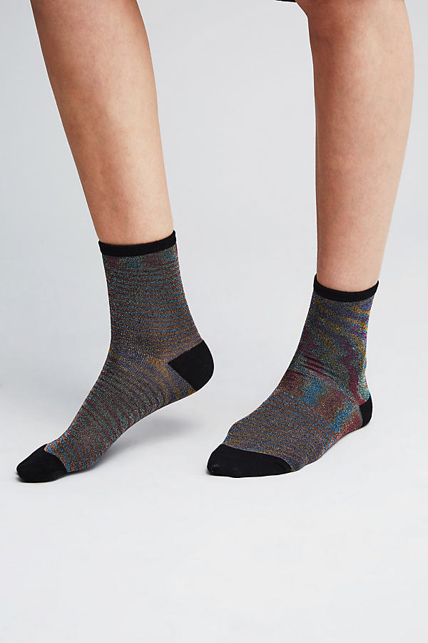 Rosana Lurex Ankle Socks - A/s, Size M/l