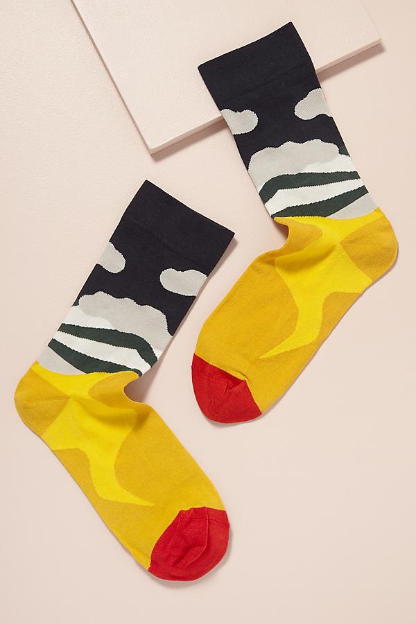 Bonne Maison Sunrise Paysage Socks - Assorted, Size S/m