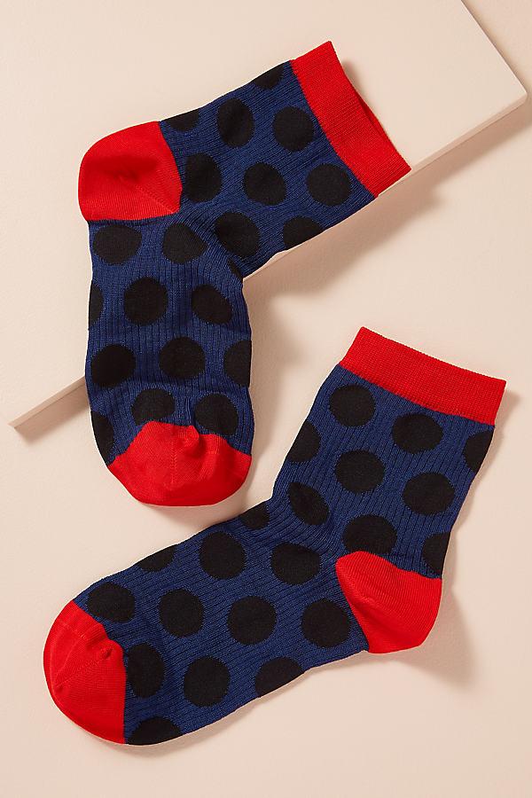 Hysteria Patterned Socks - Black, Size M/l
