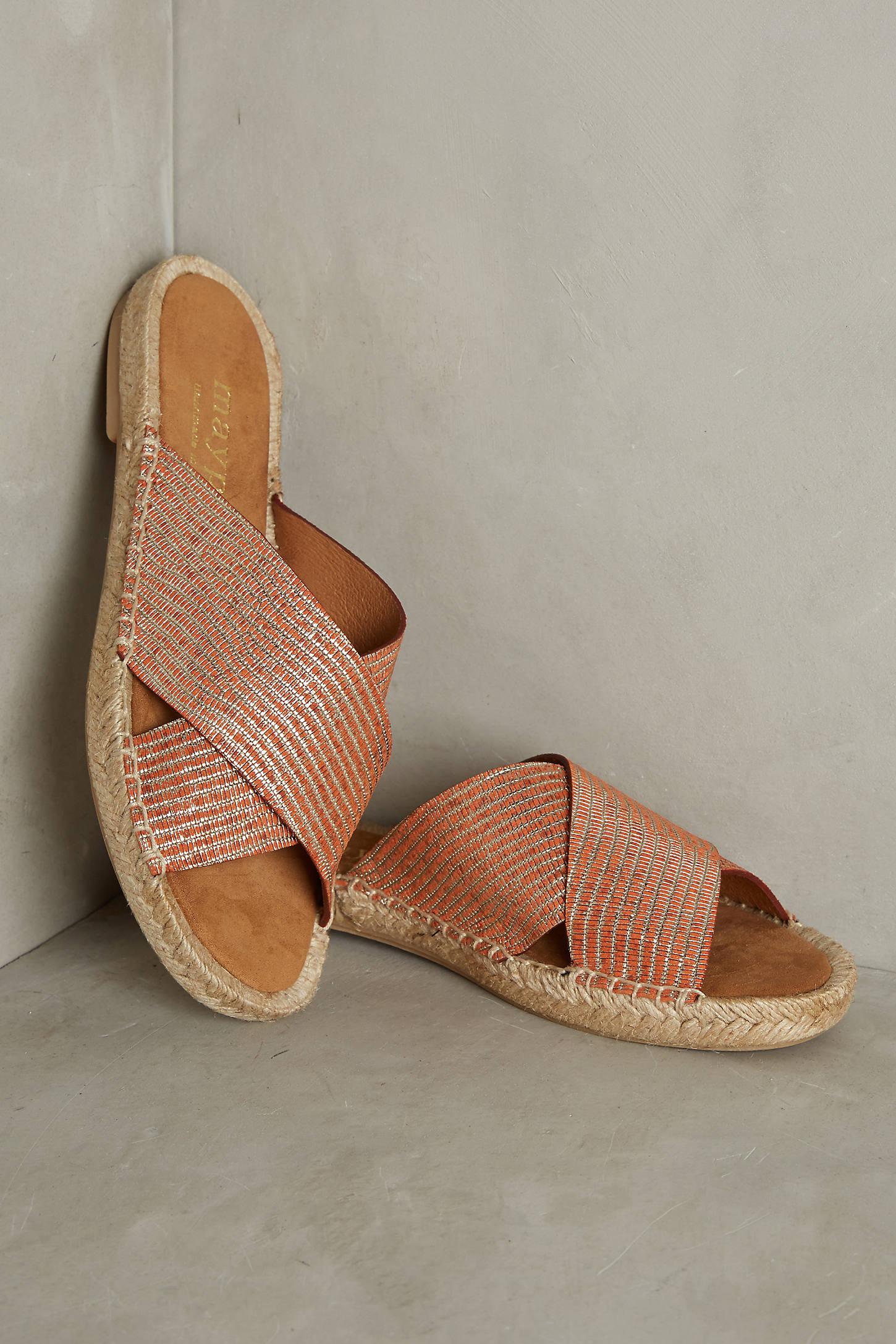 Maypol Metallic Espadrille Sandals