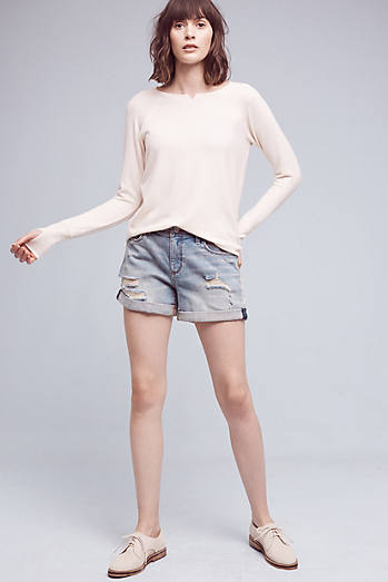 Pilcro Hyphen Denim Roll-Up Shorts