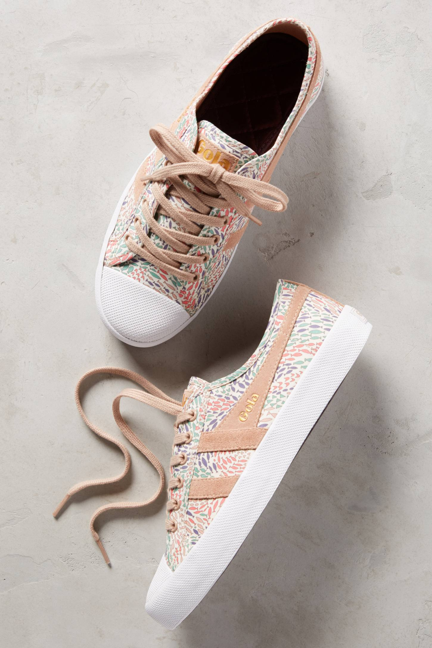 Slide View: 1: Gola x Liberty Coaster Sneakers