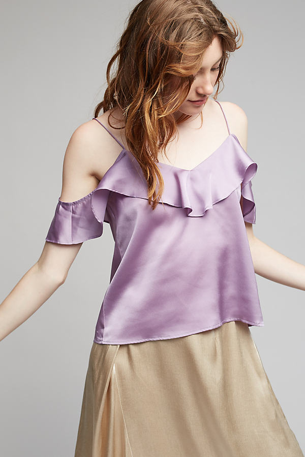 Bjorn Ruffled Cami - Lilac, Size Xs