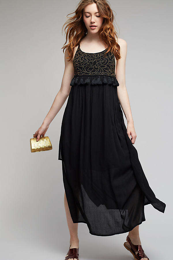 Layla Maxi Dress, Black - Black, Size L
