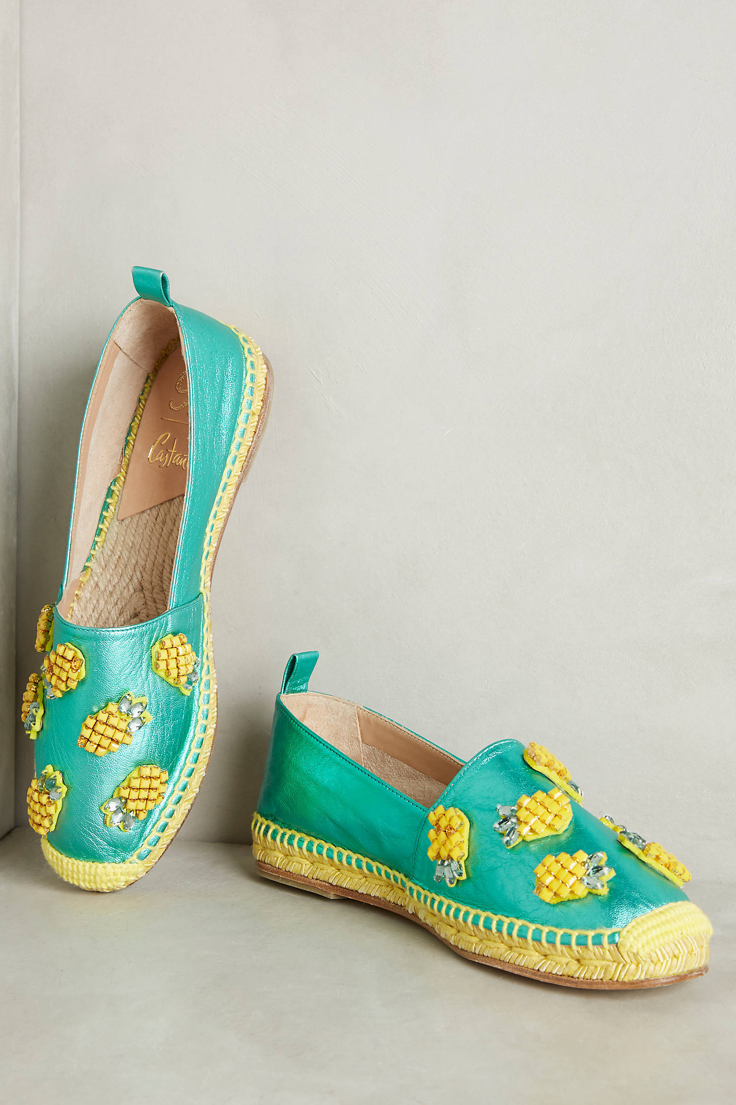 Castaner Beaded Pineapple Espadrilles