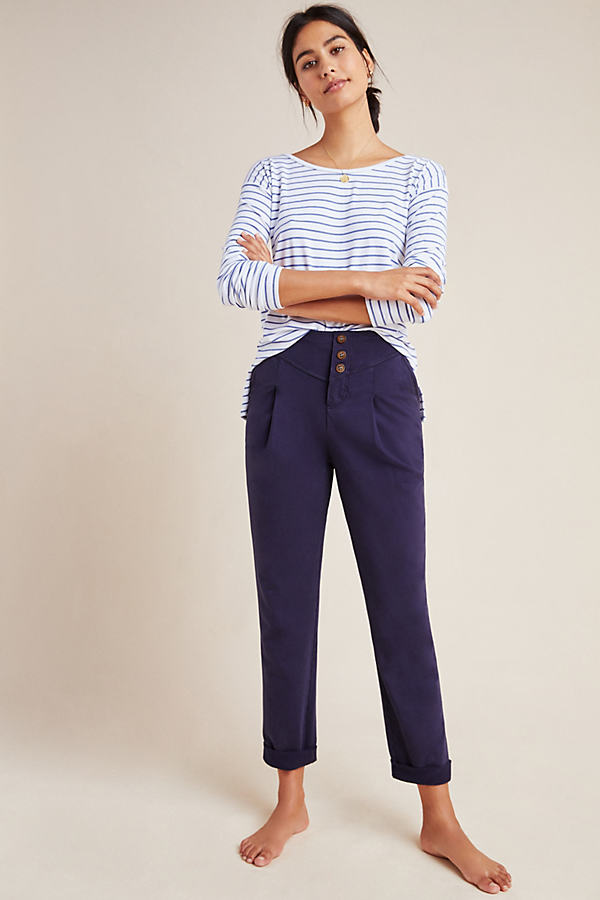 Layover Tapered Trousers - Blue, Size M