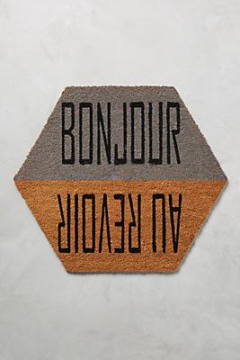 Slide View: 1: Bonjour & Au Revoir Doormat