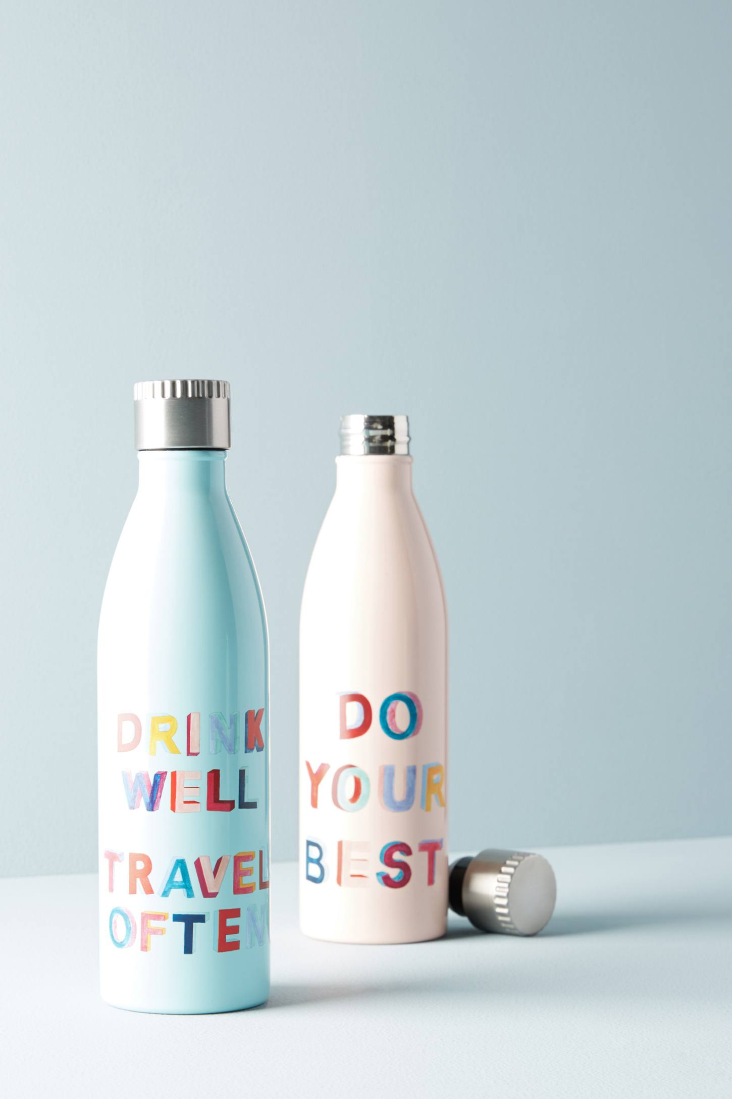 Slide View: 2: Printed Motto Water Bottle