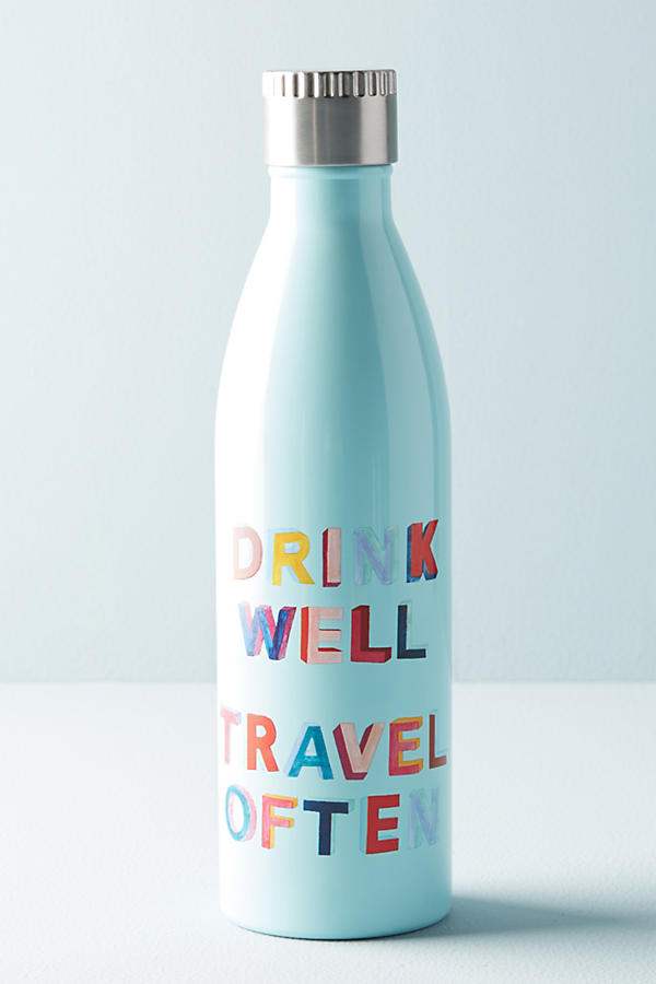 Slide View: 1: Printed Motto Water Bottle