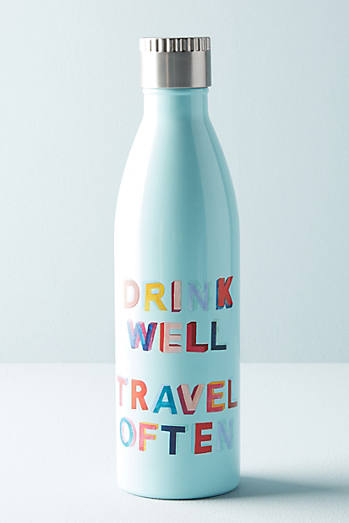 Printed Motto Water Bottle