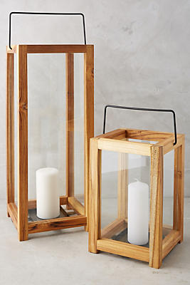 Slide View: 5: Minimalist Teakwood Lantern