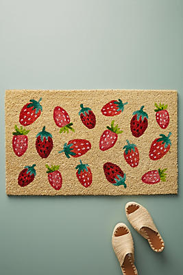 Slide View: 1: Strawberries Doormat