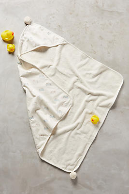 Slide View: 1: Bunny Dash Hooded Towel