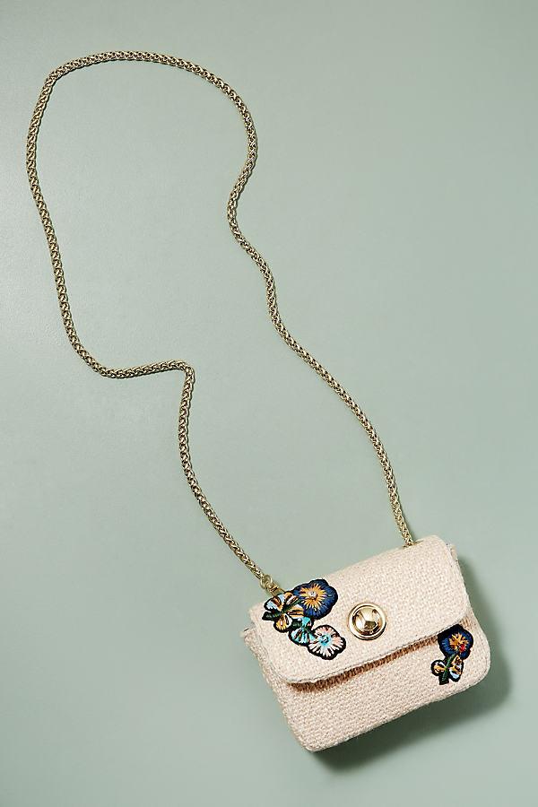 Frankie Woven Cross-Body Bag - Cream