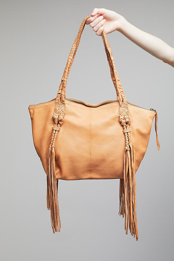 Kendra Leather Tassel Shoulder Bag - Neutral
