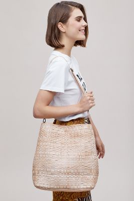 woven-leather-handbag by anthropologie