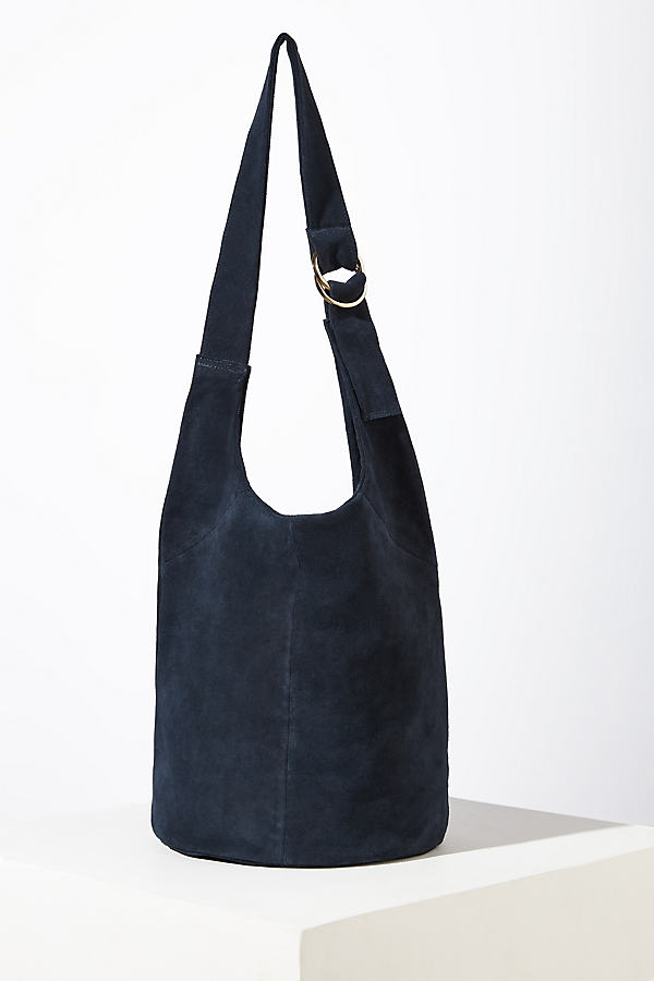 Friya Suede Shoulder Bag - Blue