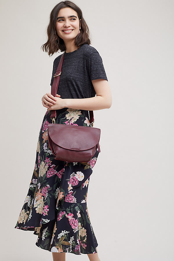 Amma Leather Crossbody Bag - Wine