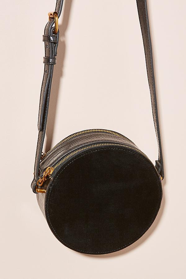 Wyonna Round Velvet Bag - Black