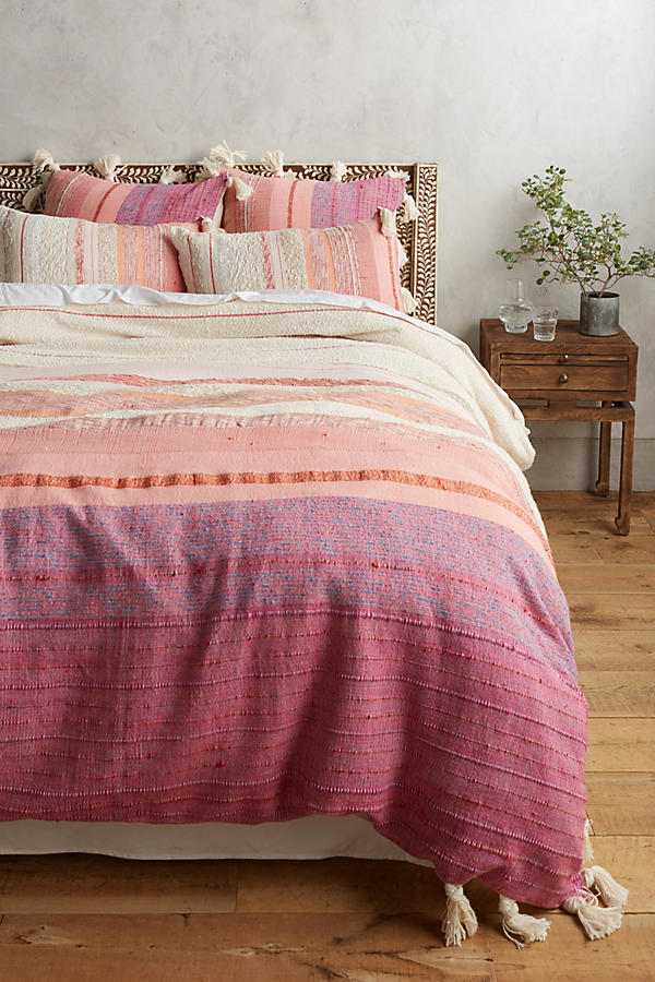 Slide View: 1: Woven Sunset Duvet Cover