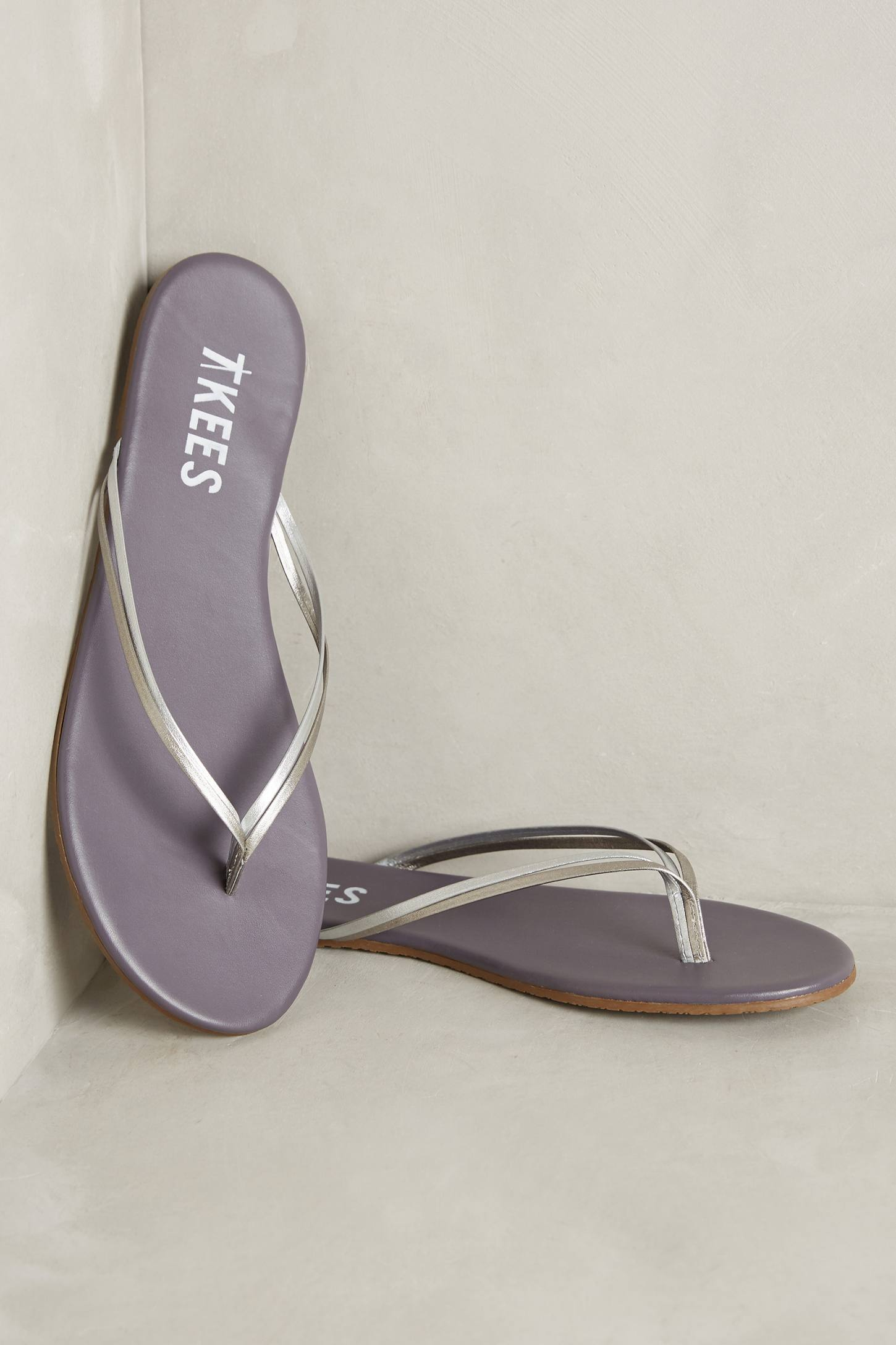 Slide View: 1: Tkees Duos Leather Sandals