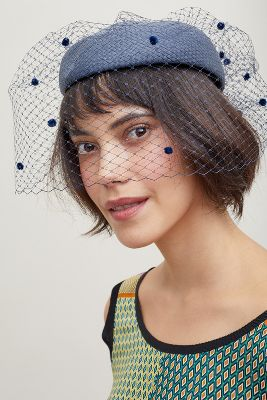 Agnes Pillbox Hat by Helene Berman