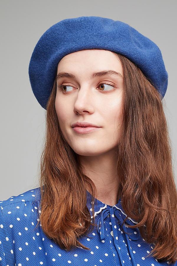 Wool Beret - Blue