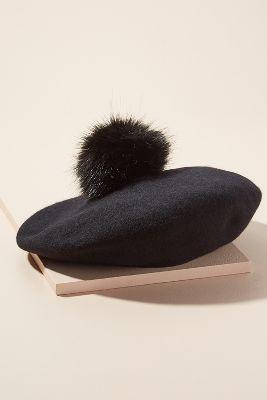 Ronja Pommed Wool Beret by Helen Moore
