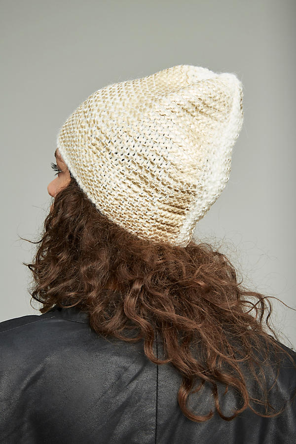 Slide View: 4: Sannita Metallic Knit Beanie