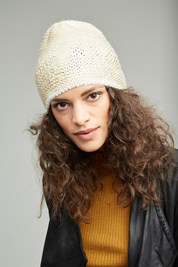 Slide View: 1: Sannita Metallic Knit Beanie
