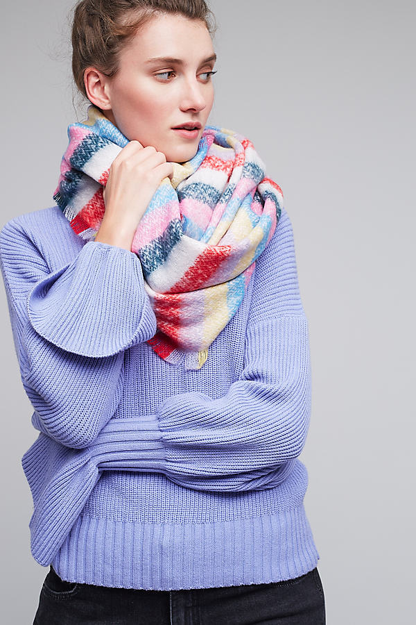 Boucle Stripe Scarf - Assorted