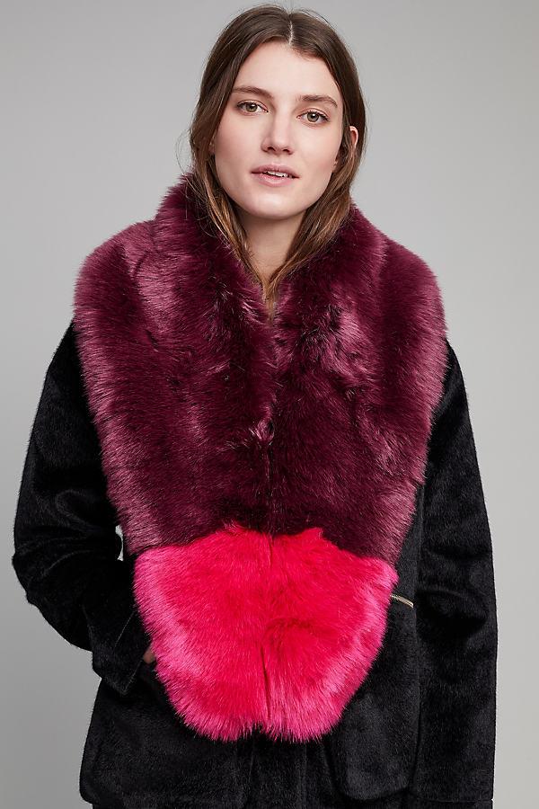 Queenie Faux Fur Collar - Dark Purple
