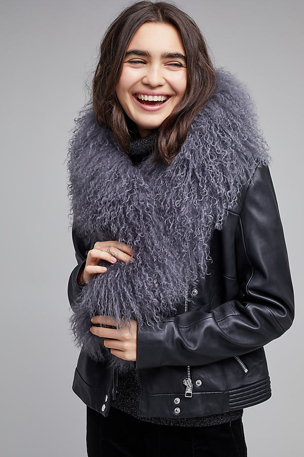 Katy Fluffy Scarf - Grey