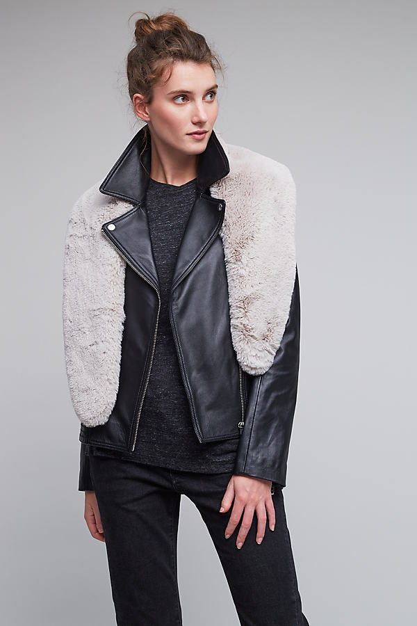 Esme Faux-Fur Collar - Grey