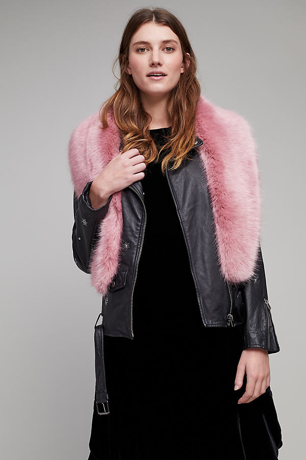 Esme Faux-Fur Collar - Pink