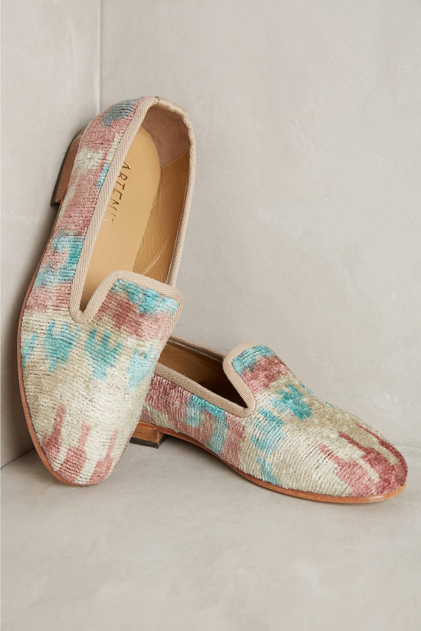 Artemis Silk Velvet Loafers
