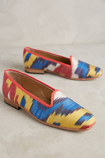 Artemis Printed-Silk Smoking Loafers