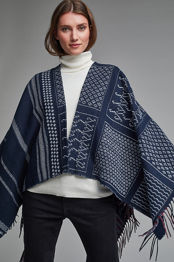 Lille Reversible Cape, Navy - Navy
