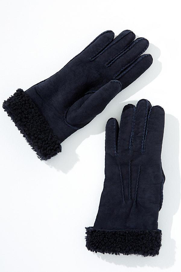 Alva Sheepskin Gloves - Blue, Size S/m