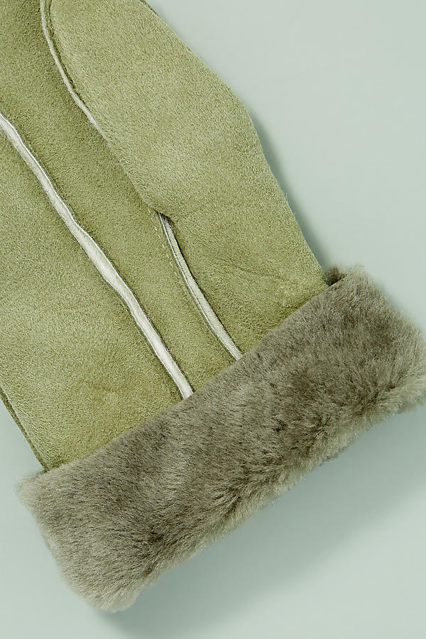 Slide View: 2: Sheepskin Mittens