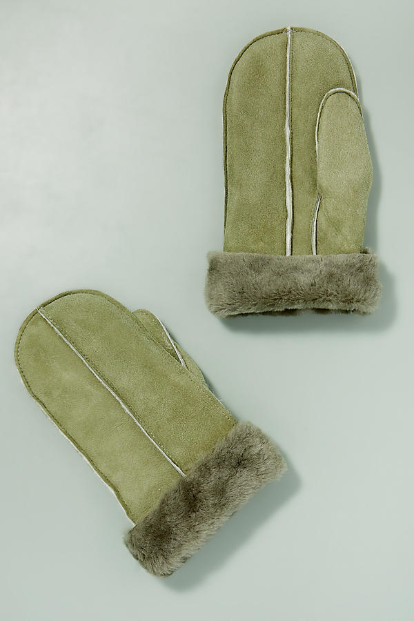 Slide View: 1: Sheepskin Mittens