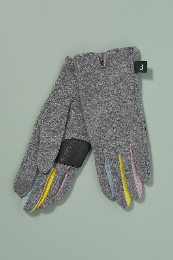 Touch-Screen Gloves - Grey, Size L