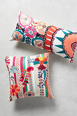 Slide View: 4: Harper Embroidered Pillow
