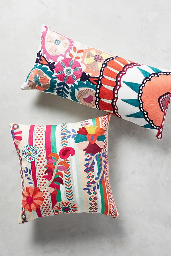 Slide View: 1: Harper Embroidered Pillow