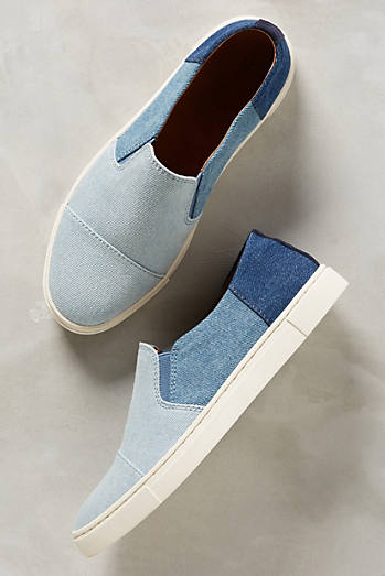 Frye Denim Patchwork Sneakers