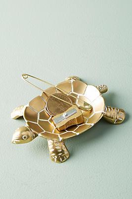 Slide View: 1: Brass Turtle Trinket Dish