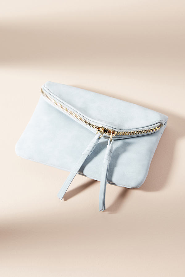Zippered Mini Envelope Clutch - Sky